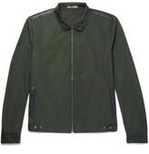 Bottega Veneta Intrecciato Leather-trimmed Shell Blouson Jacket - Green