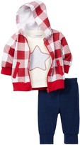 Isaac Mizrahi Long Sleeve Top, Hoodie & Pant Set (Baby Boys)