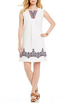 Tommy Bahama Kamari Embroidered Linen Short Dress