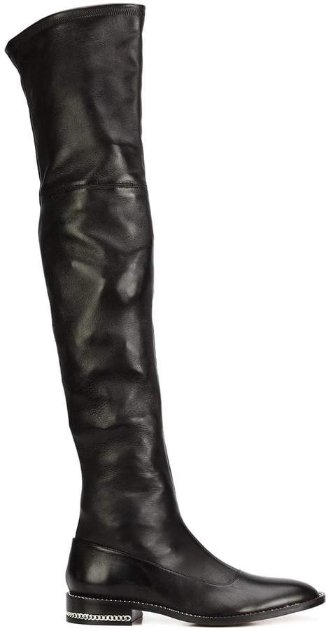 Givenchy double chain over-the-knee boots