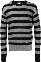 McQ by Alexander McQueen striped jumper - men - Polyester/Wool/Metallic Fibre - S