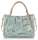 Brahmin Ruby Painted Leather Satchel - Blue