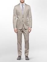 Calvin Klein X Fit Ultra Slim Fit Khaki Suit