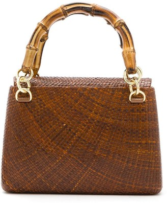 Serpui Marie Raffia Shoulder Bag