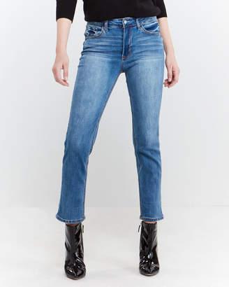 Kensie Morning Side High-Rise Slim Straight Jeans
