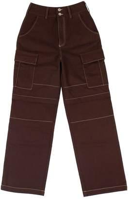 Heron Preston Burgundy Cotton Trousers