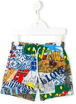 Dolce & Gabbana Italia is Love printed swim shorts