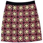 Milly Black Printed Mini Skirt