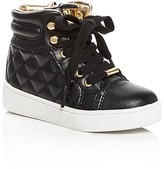 MICHAEL Michael Kors Girls' Ivy Cora Quilted High Top Sneakers - Toddler