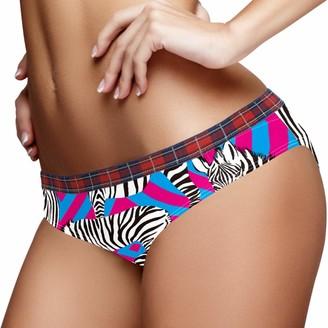 Lennel Breathable XL Stretchy Ladies Hipster Panties Zebras Tropical Stripe Womens Bikini Briefs Soft Female Underwear