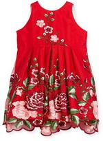Helena Flower Embroidery Tulle Dress, Size 2-6