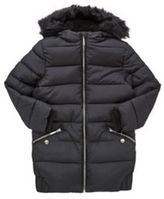 F&F Long Line Padded Coat, Girl's