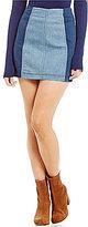 Free People Modern Femme Colorblock Mini Skirt