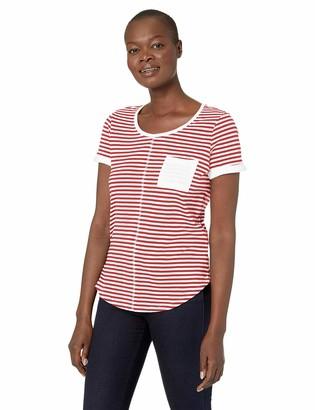 Tribal Women's Short Sleeve Stripe Top with Pocket