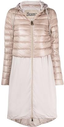Herno Contrast-Panel Zipped Coat