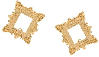 Moschino Frame oversized clip-on earrings