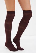 Forever 21 Diamond Pattern Over-the-Knee Socks