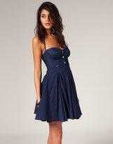Denim Mix Full Mini Dress