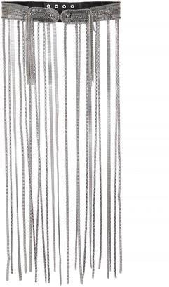 Christopher Kane Chain-embellished leather belt