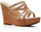 Ivanka Trump Howens Metallic Strappy Platform Wedge Sandals