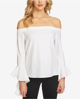 1 STATE 1.STATE Ruffled-Sleeve Off-The-Shoulder Top
