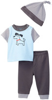 Offspring Dog Tee, Pant, & Hat Set (Baby Boys 3-9M)