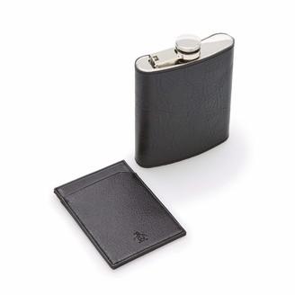 Original Penguin Pocket Flask & Card Holder
