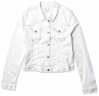 Grace in LA Women's White Stitch Denim Jacket M