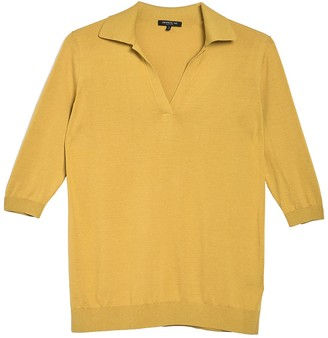 Lafayette 148 New York Polo 3/4 Sleeve Sweater