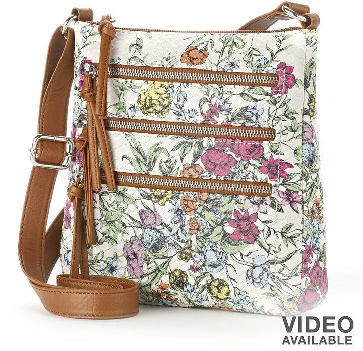 Apt. 9 robin floral crossbody bag