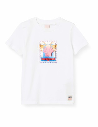 Scotch & Soda Girl's Regular Fit Short Sleeve Tee in Organic Cotton T-Shirt