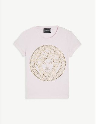Versace Sequin-embellished cotton T-shirt 4-14 years