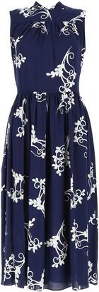 Prada Printed Pleated Dress