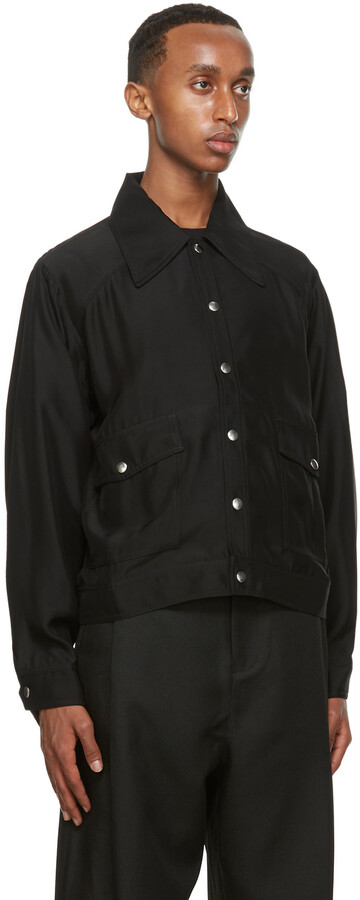 Thumbnail for your product : Second/Layer Black Unlined Snap Jacket