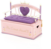 Levels of Discovery Princess Kids Bench with Storage Compartment