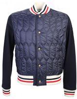 Moncler Gamme Bleu Blend Wool And Nylon Bomber Jacket