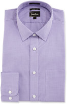 Neiman Marcus Trim-Fit Regular-Finish Check Dress Shirt, Purple