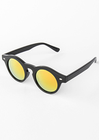 Missy Empire Jaslyn Yellow Tint Round Sunglasses