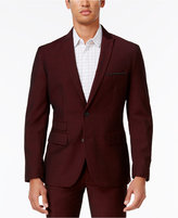 INC International Concepts Men's Slim-Fit Burgundy Blazer, Only at Macy's