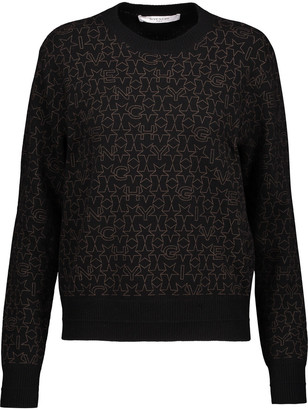 Givenchy Printed Wool And Cashmere-blend Sweater