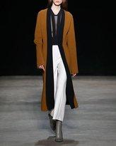 Narciso Rodriguez Wool Gauze Cropped Straight-Leg Pants, Ivory