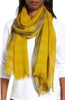 Eileen Fisher Women's Plaid Wool Scarf