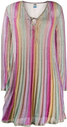 M Missoni Pleated Striped Dress