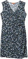 Joe Fresh WomenPlus Print Wrap Dress, Navy (Size 1X)