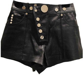 Alexander Wang Black Leather Shorts for Women