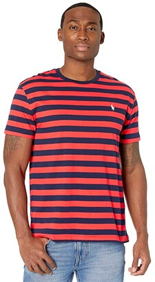 Polo Ralph Lauren Crew Neck T-Shirt (Racing Red/French Navy) Men's Clothing