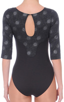Danskin Black Mesh-Cutout Leotard - Women & Petite
