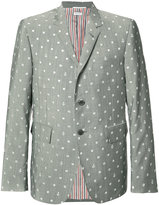 Thom Browne portal and anchor print blazer - men - Cupro/Wool/Mohair - 2