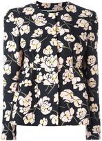 Rochas floral print peplum jacket - women - Silk/Cotton/Viscose - 40