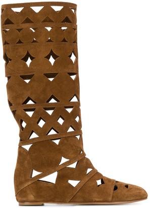 Casadei Cut-Out Summer Boots